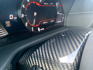 NV Spec. MKV carbon steering wheel cover upper and lower