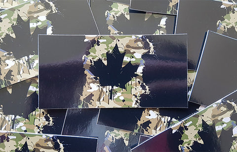 Canadian Splatter Cam Stickers