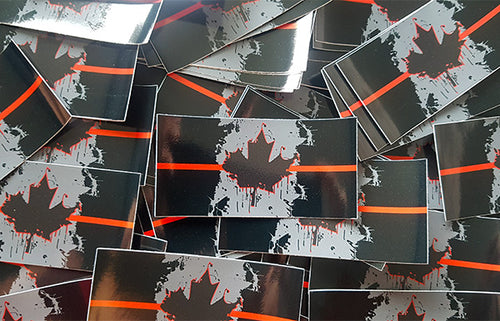Thin Red Line Canada Stickers