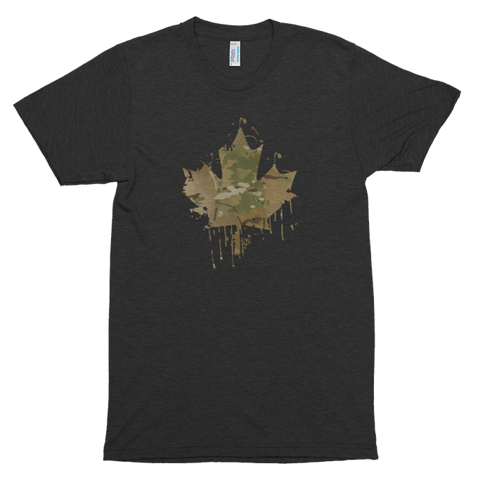 Splatter Cam Maple Leaf Tee