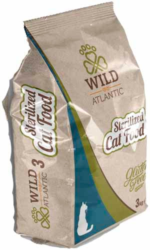 Wild Atlantic Sterilized 3 Kg Gluten Free Premium Cat Food