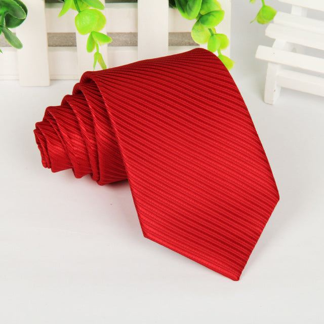 High Quality Power Red Neck Tie For Men