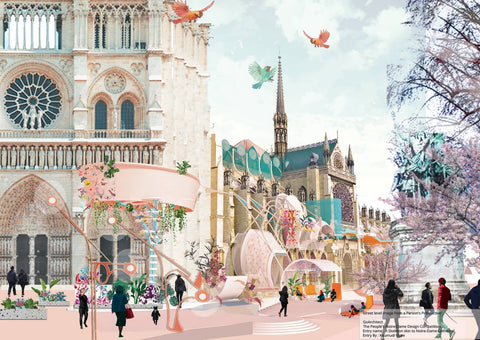 Kaumudi More's playful design for Notre-Dame is a burst of personality