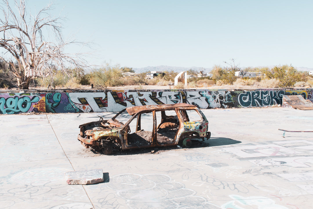 Slab City Skatepark Rusty Car
