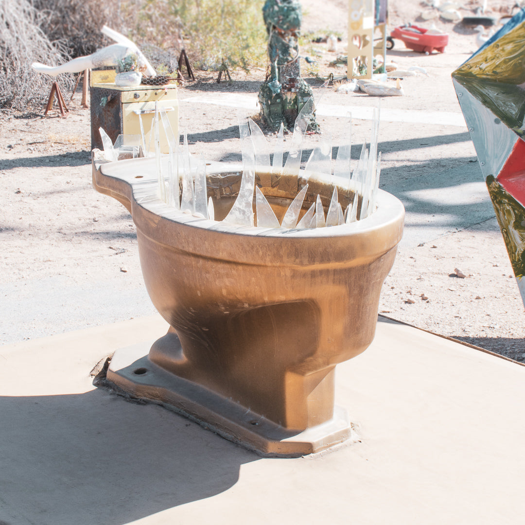 Slab City East Jesus Toilet