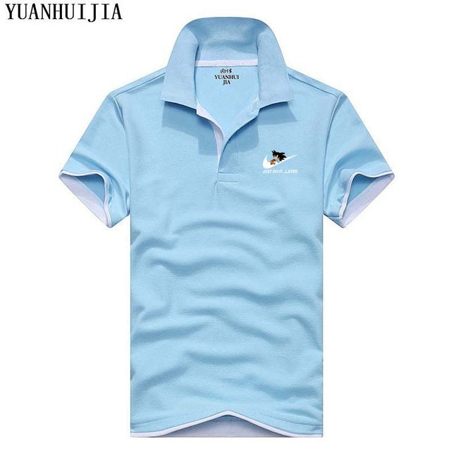 22fe33318 ... YUANHUIJIA 2017 Brand Men Fashion Polo Commodore64/Dragon Ball Printing  Man Tommys Short Sleeved Polos ...