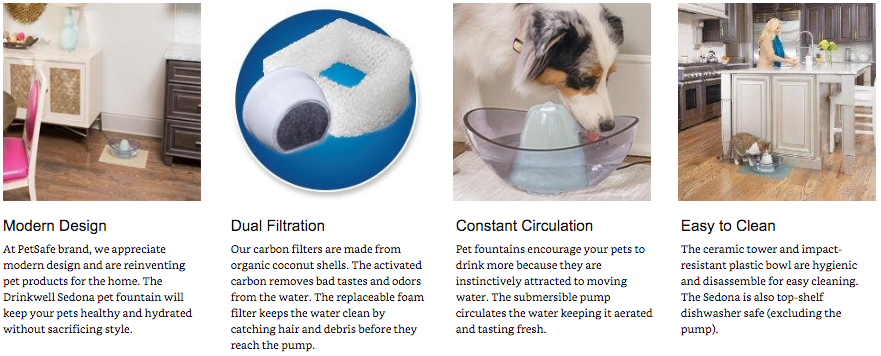 PetSafe Drinkwell Sedona Dog and Cat Water Fountain