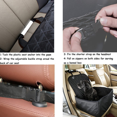 how to install a dog car seat