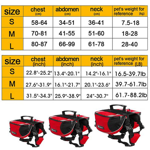 durable dog harness sizing chart