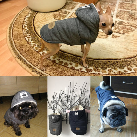 hooded dog jacket models