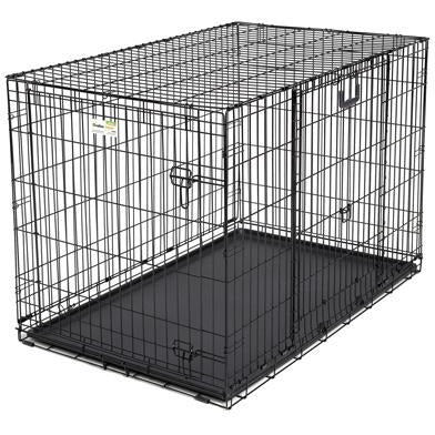 Midwest Ovation Double Door Crate with Up and Away Door Black 49.00