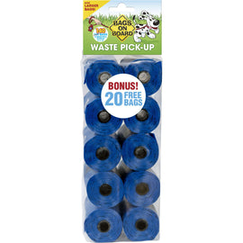 Bags on Board Waste Pick-Up Refill Bags 140 count Blue