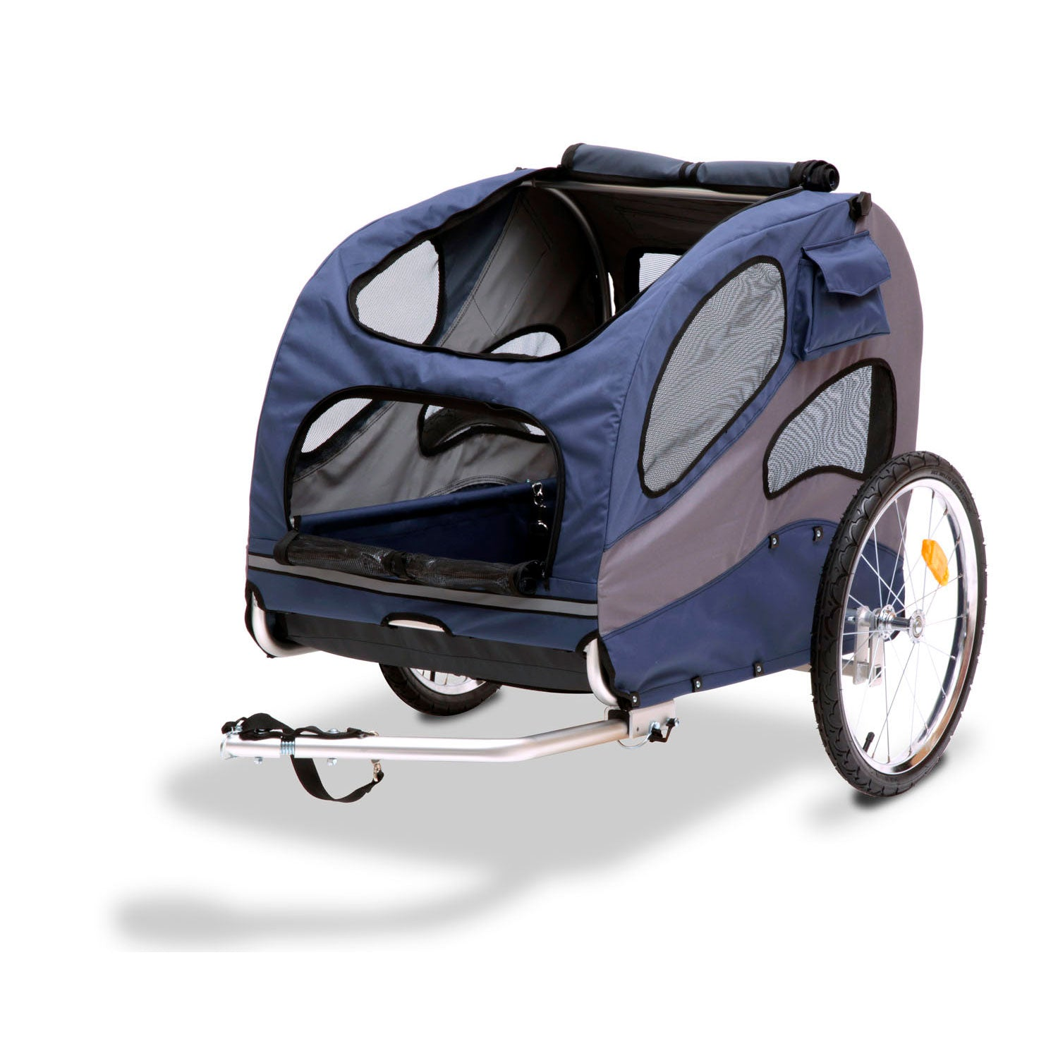 PetSafe-Solvit HoundAbout II Bicycle Trailer-Large-Blue-Comfort-Dog-Travel