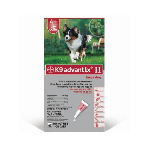 Advantix Flea and Tick Control for Dogs 20-55 lbs 4 Month Supply