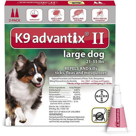 Advantix Flea and Tick Control for Dogs 20-55 lbs 2 Month Supply