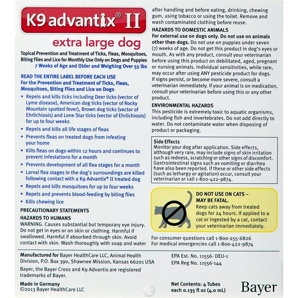 Advantix Flea and Tick Control for Dogs Over 55 lbs 6 Month Supply