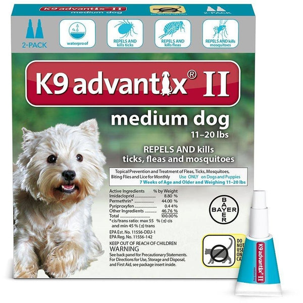 Advantix Flea and Tick Control for Dogs 10-22 lbs 2 Month Supply
