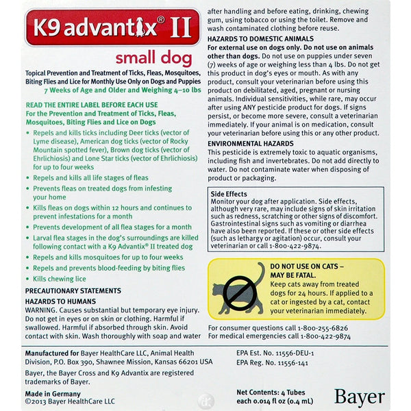 Advantix Flea and Tick Control for Dogs Under 10 lbs 6 Month Supply