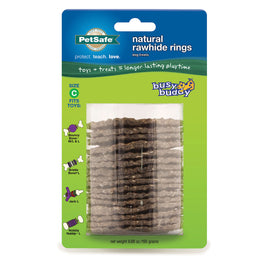 PetSafe-Busy Buddy Rawhide Refill Rings-Large-Brown-Rawhide-Dog-Treats and Bones