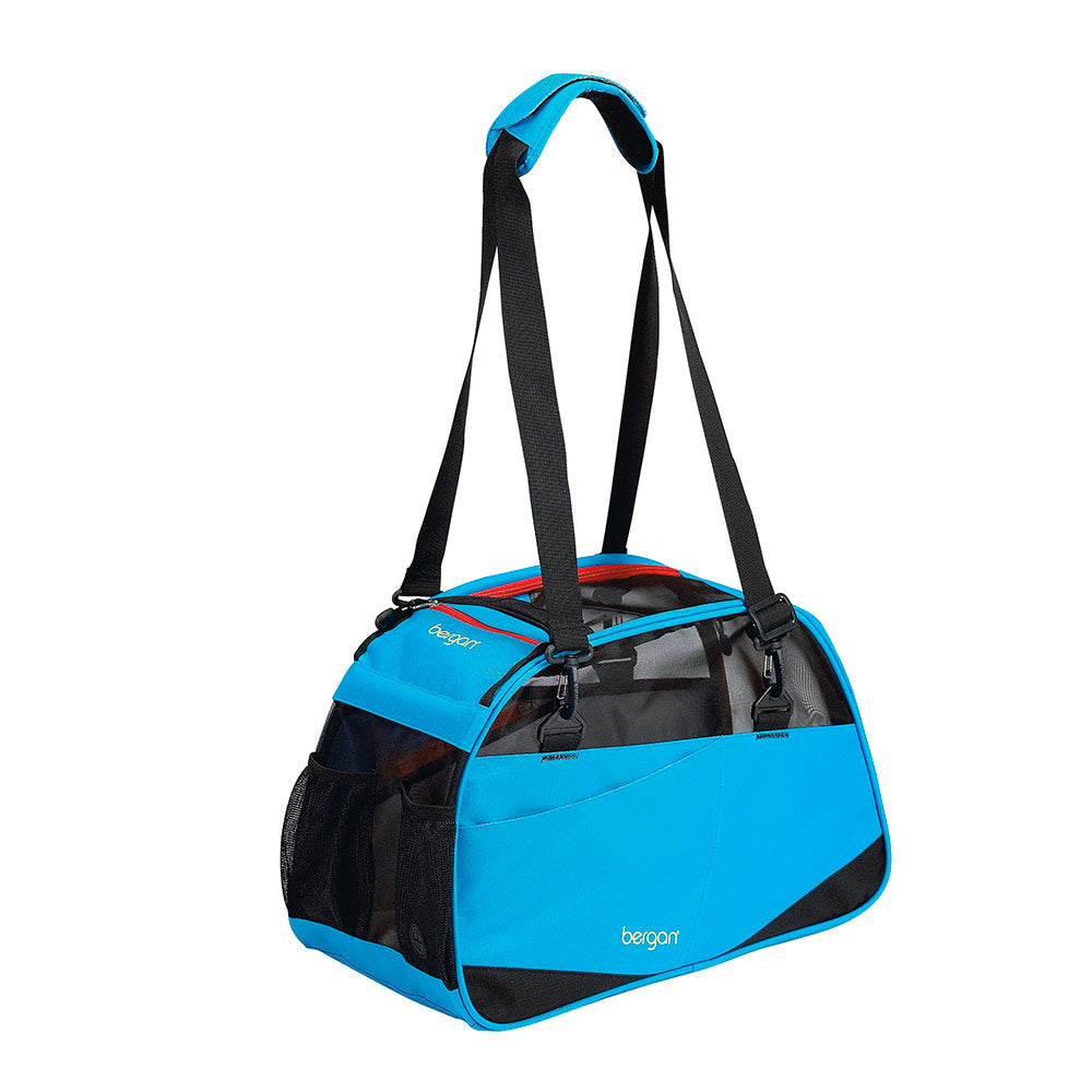 "Bergan Voyager Pet Carrier Medium / Large Bright Blue 13"" x 19"" x 10"""