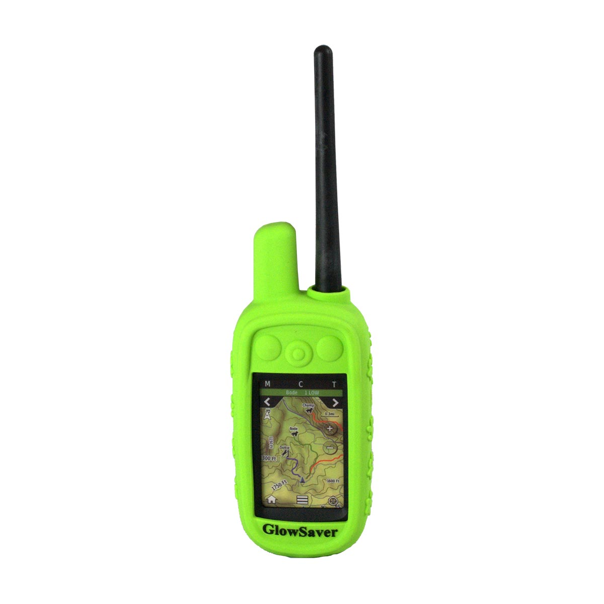 The Buzzard's Roost GlowSaver Case for Alpha with Screen Protectors Bright Green Dog GPS Tracking - London the Local