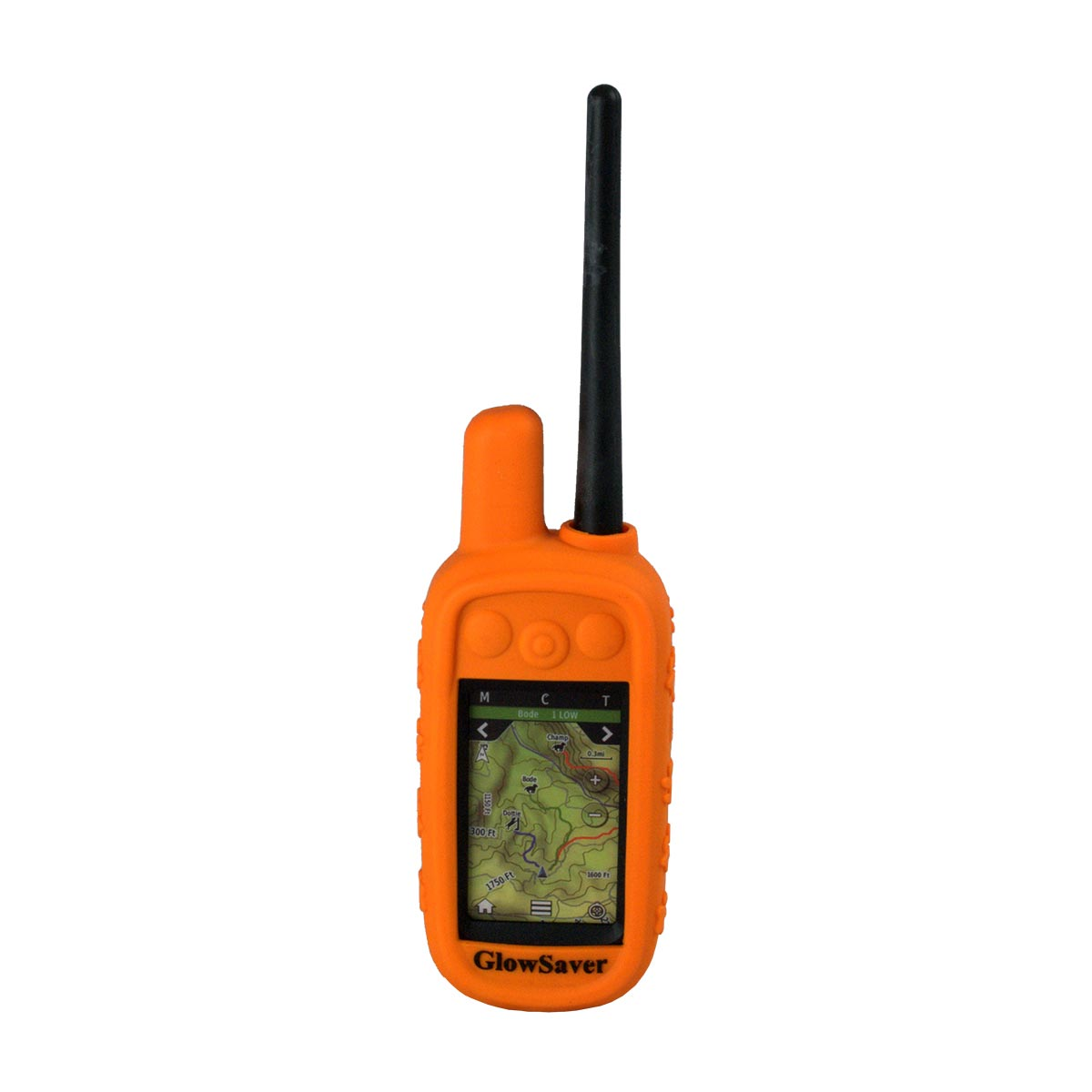 The Buzzard's Roost GlowSaver Case for Alpha with Screen Protectors Bright Orange Dog GPS Tracking - London the Local
