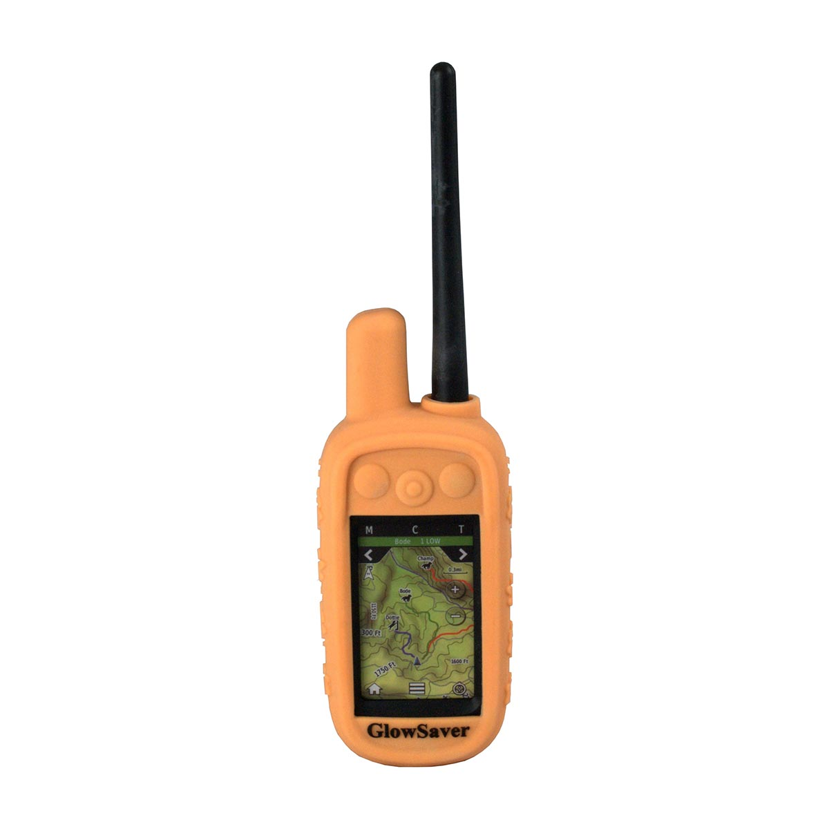 The Buzzard's Roost GlowSaver Case for Alpha with Screen Protectors Dark Orange Dog GPS Tracking - London the Local