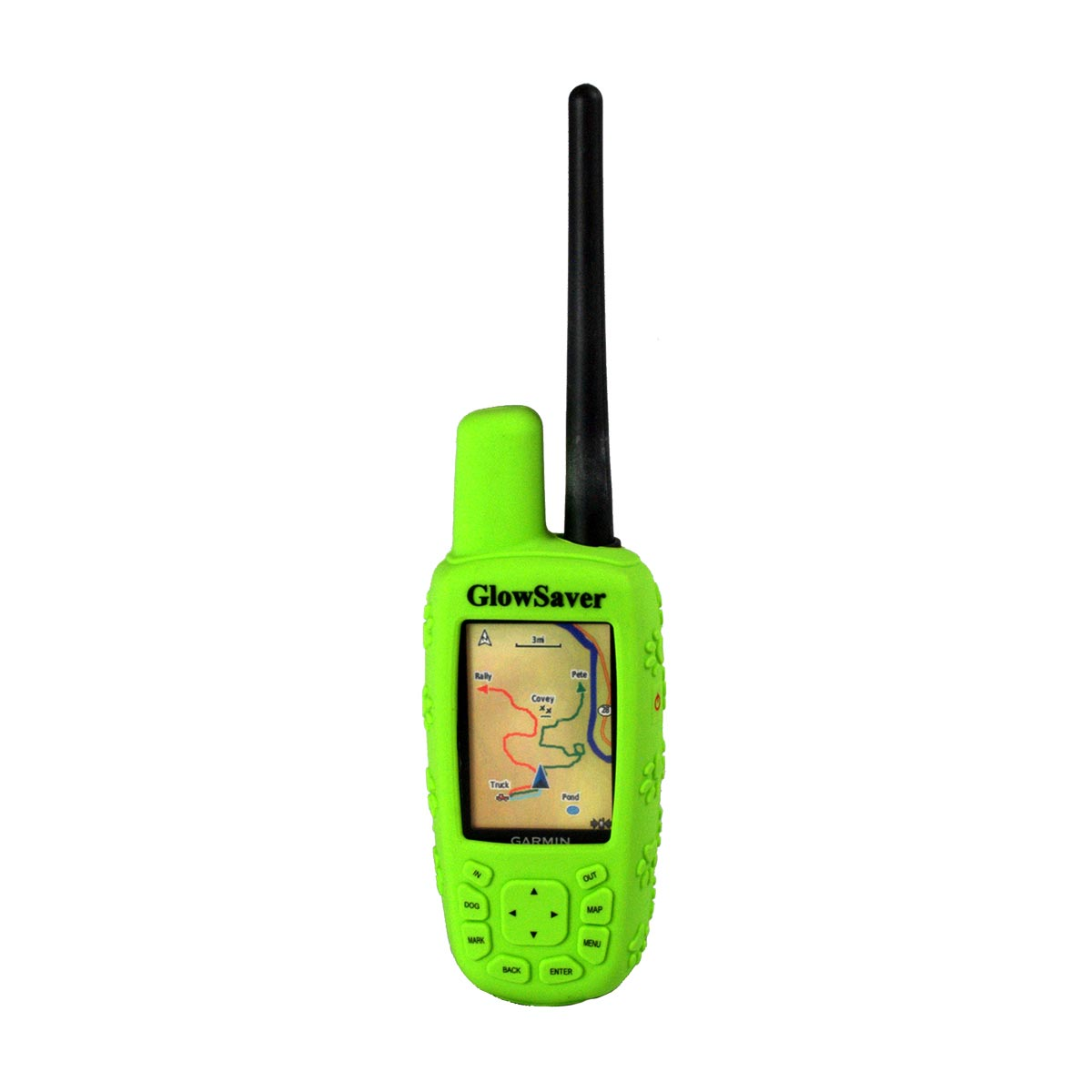 The Buzzard's Roost GlowSaver Case for Astro with Screen Protectors Bright Green Dog GPS Tracking - London the Local