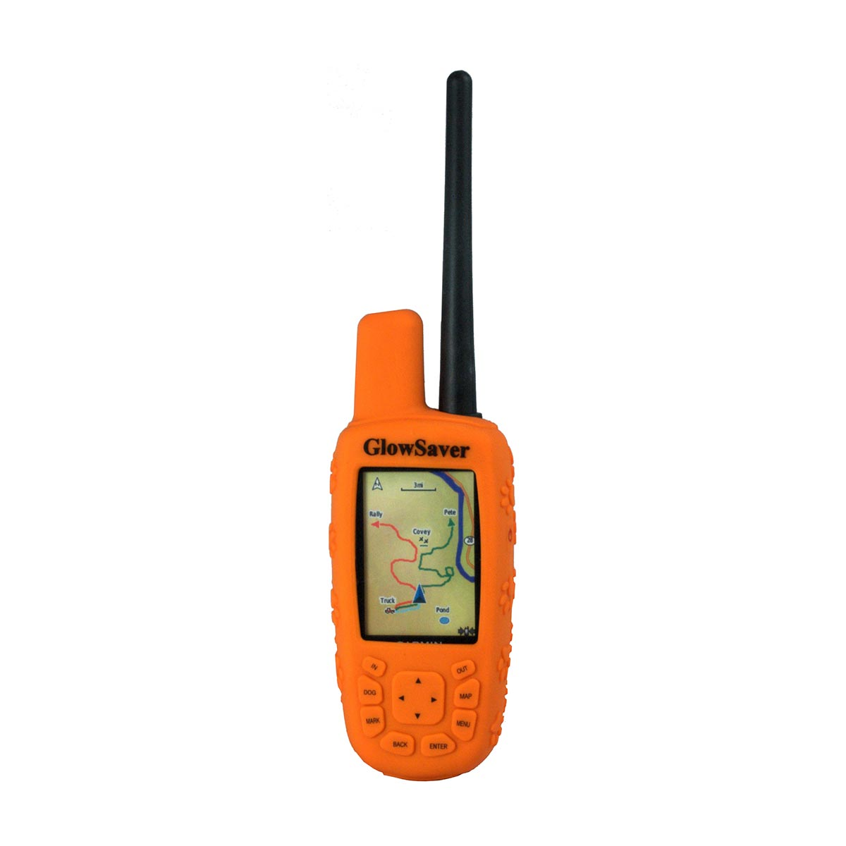 The Buzzard's Roost GlowSaver Case for Astro with Screen Protectors Bright Orange Dog GPS Tracking - London the Local