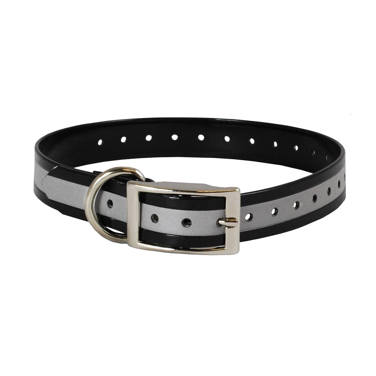"The Buzzard's Roost Reflective Collar Strap 1"" Black 1"" x 24"" Dog GPS Tracking - London the Local"