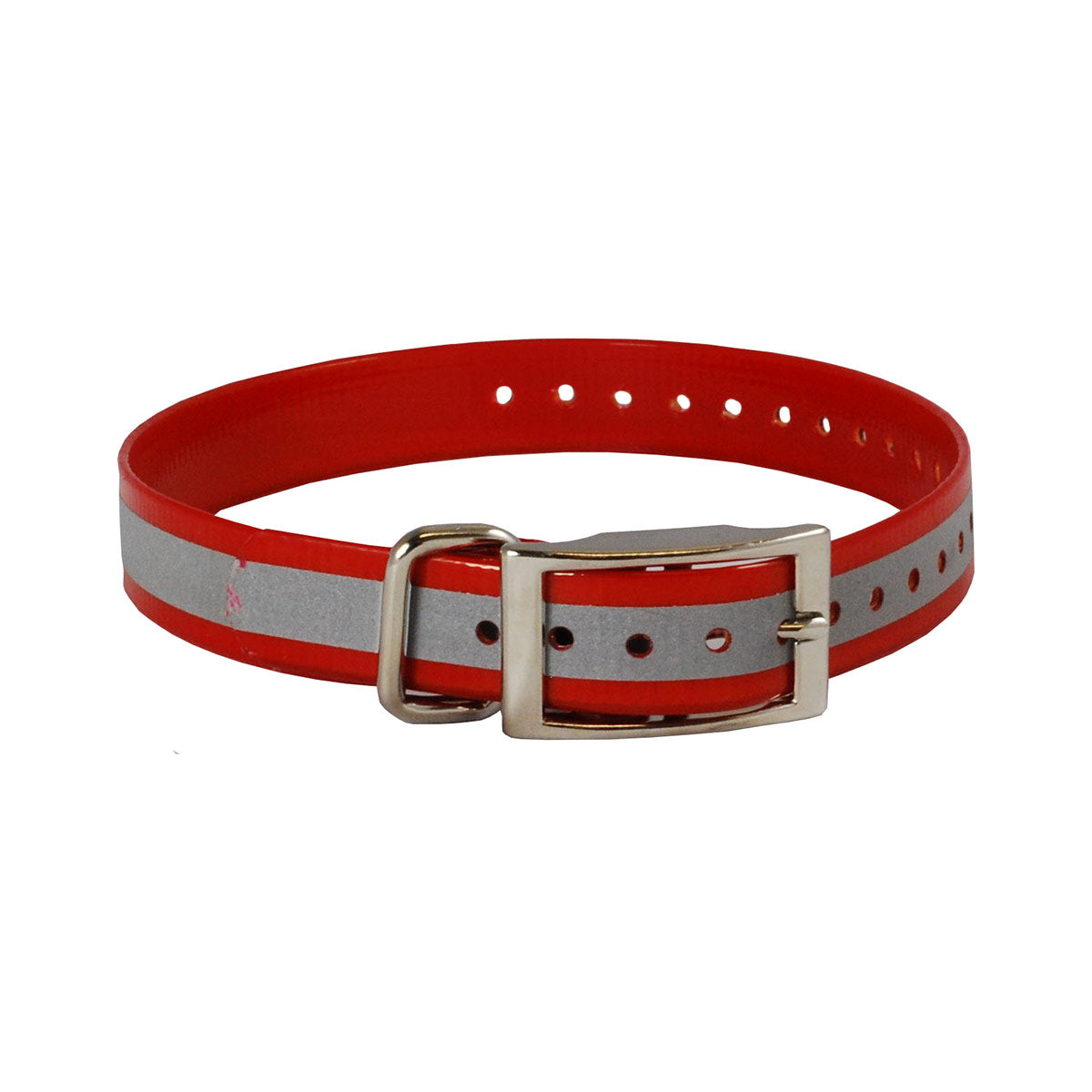 "The Buzzard's Roost Reflective Collar Strap 1"" Red 1"" x 24"" Dog GPS Tracking - London the Local"