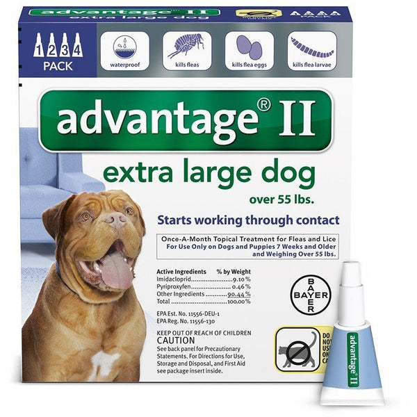 Advantage Flea Control for Dogs And Puppies Over 55 lbs