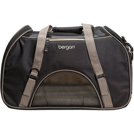 "Bergan Pet Comfort Carrier Small Black / Brown 16"" x 8"" x 11"""