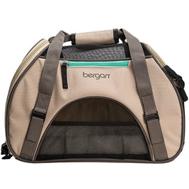 "Bergan Pet Comfort Carrier Small Taupe 16"" x 8"" x 11"""