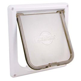 PetSafe-Cat Flap--White-Door Mounted-Cat-Doors