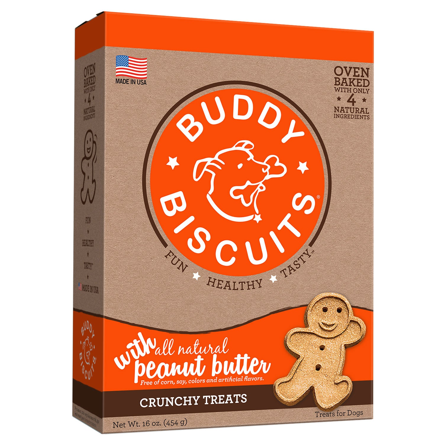 Buddy Biscuits Original Oven Baked Crunchy Treats Peanut Butter 16 ounces Dog Treats and Bones - London the Local