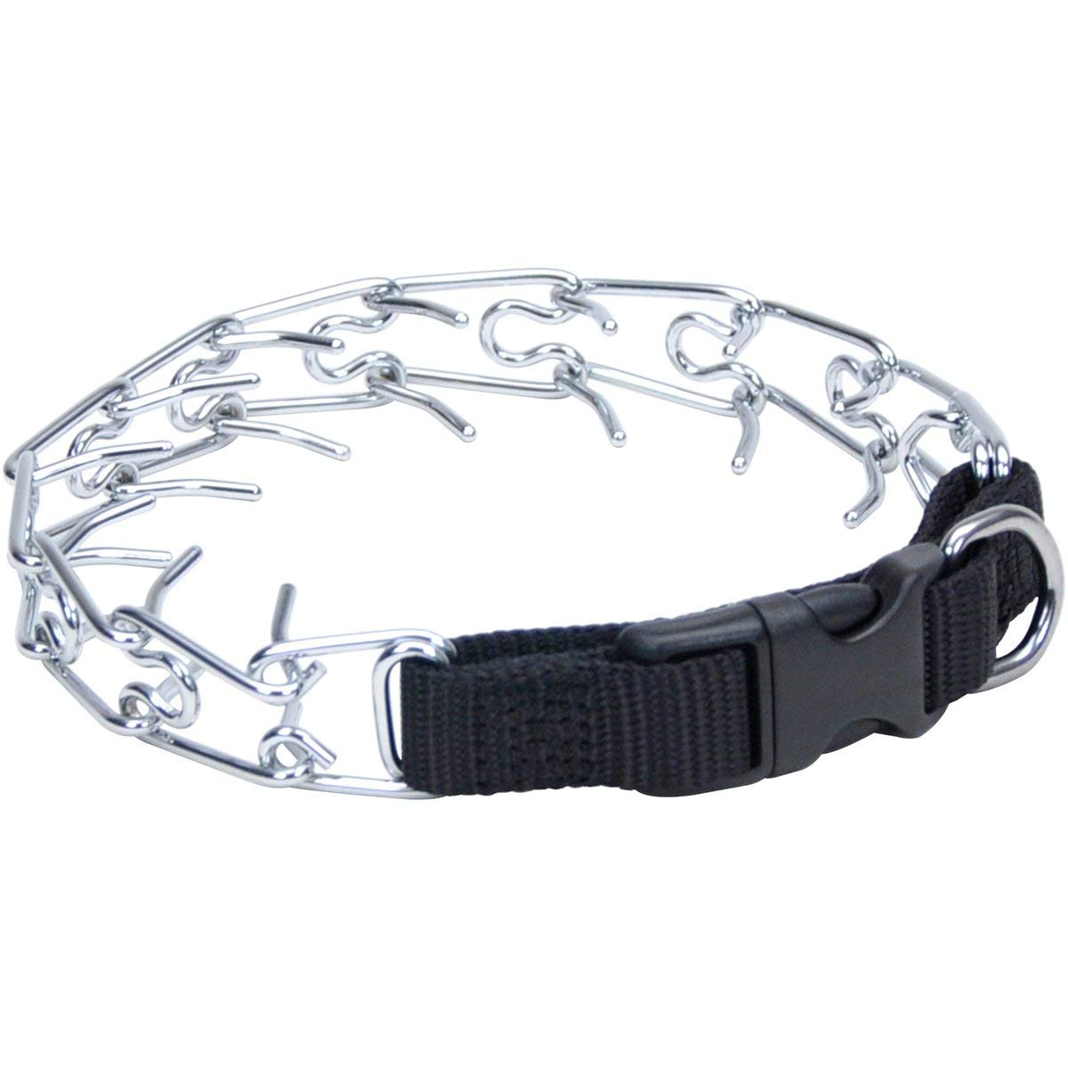 "Coastal Pet Products Titan Easy-On Dog Prong Training Collar with Buckle Small Silver 13"" x 2.50"" x 1.5"" Dog Collars and Leashes - London the Local"