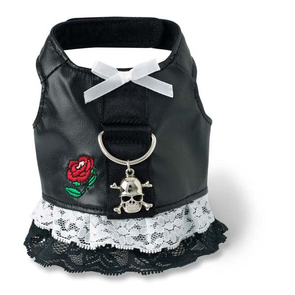 Doggles Dog Harness Biker Dress Extra Small Black Dog Collars and Leashes - London the Local