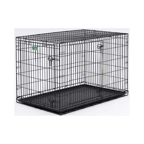MidWest Homes for Pets Dog Crate | iCrate Double Door Folding Metal Dog Crates w/Divider