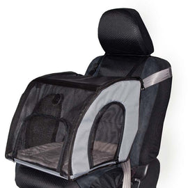 "K&H Pet Products Pet Travel Safety Carrier Small Gray 17"" x 16"" x 15"" Dog Travel - London the Local"
