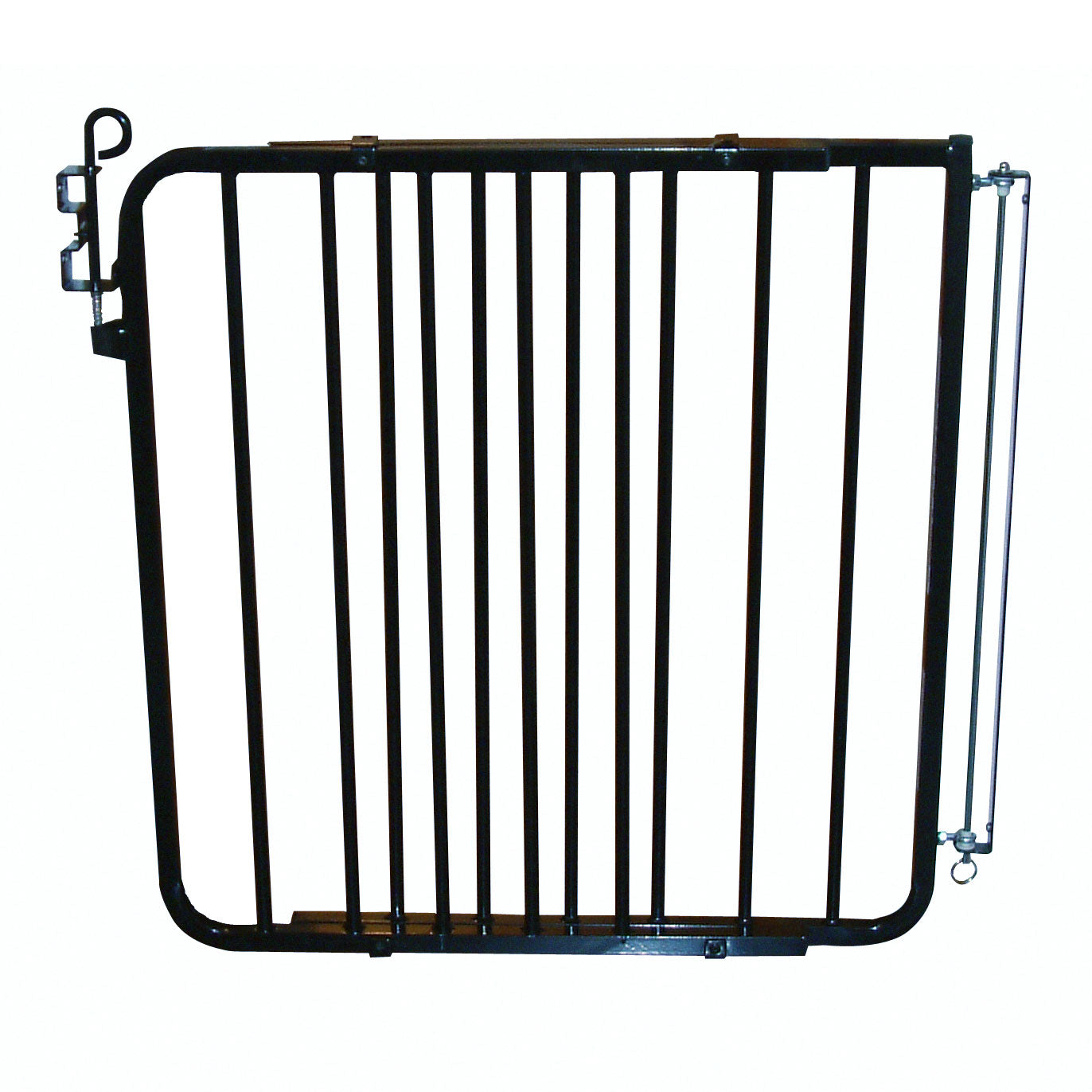 "Cardinal Gates Auto Lock Hardware Mounted Dog Gate Black 26.5"" - 40.5"" x 1.5"" x 29.5"" Dog Gates - London the Local"