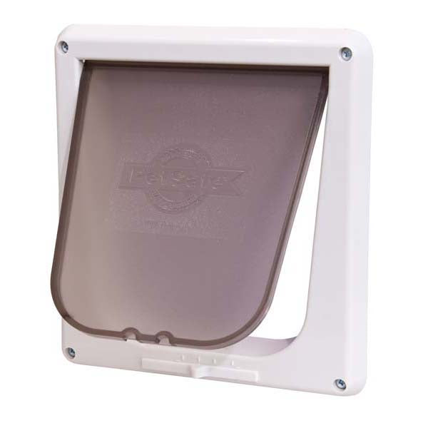 PetSafe-Four Way Cat Flap Door--White-Door Mounted-Dog-Doors