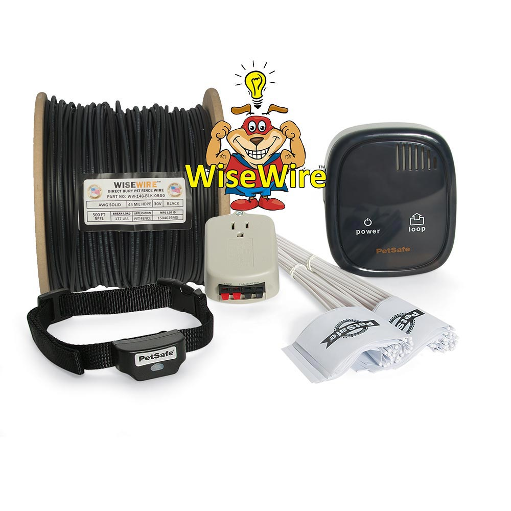 PetSafe-Rechargeable Fence System 14 gauge WiseWire®---In-Ground Fences-Dog-Containment Systems