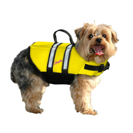 Pawz Pet Products Nylon Dog Life Jacket Extra Small Yellow Dog Water Safety - London the Local