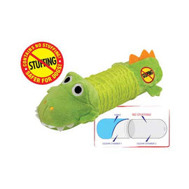 Petstages Stuffing Free Big Squeak Gator Green Dog Toys - London the Local