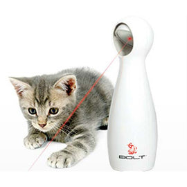 PetSafe-FroliCat Bolt Interactive Toy--White-Interactive-Cat-Toys