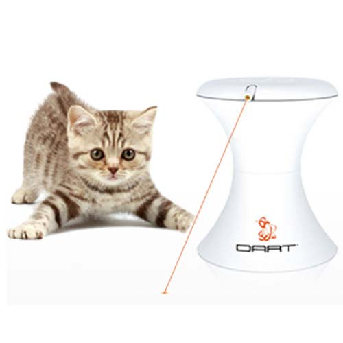 PetSafe-FroliCat Dart Interactive Toy--White-Interactive-Cat-Toys