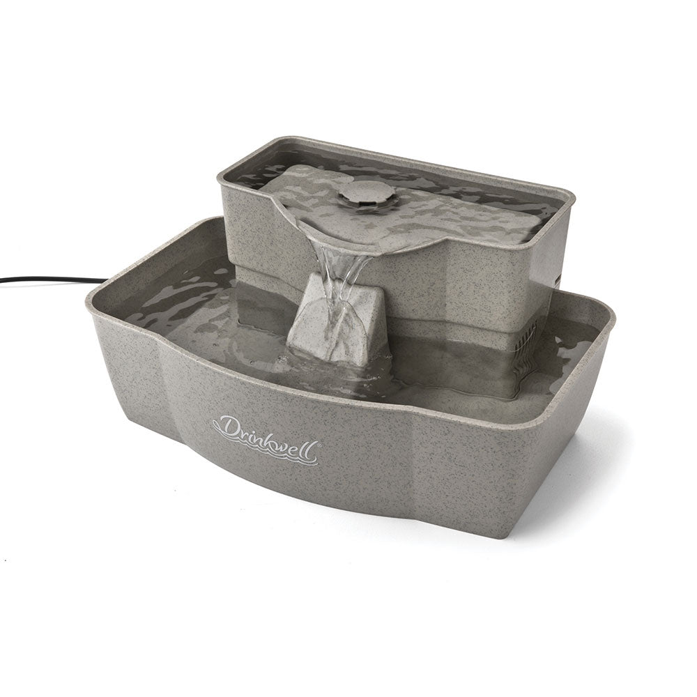 PetSafe-Drinkwell Multi-tier Pet Fountain--Gray-Automatic Feeding and Watering-Dog-Feeding and Watering
