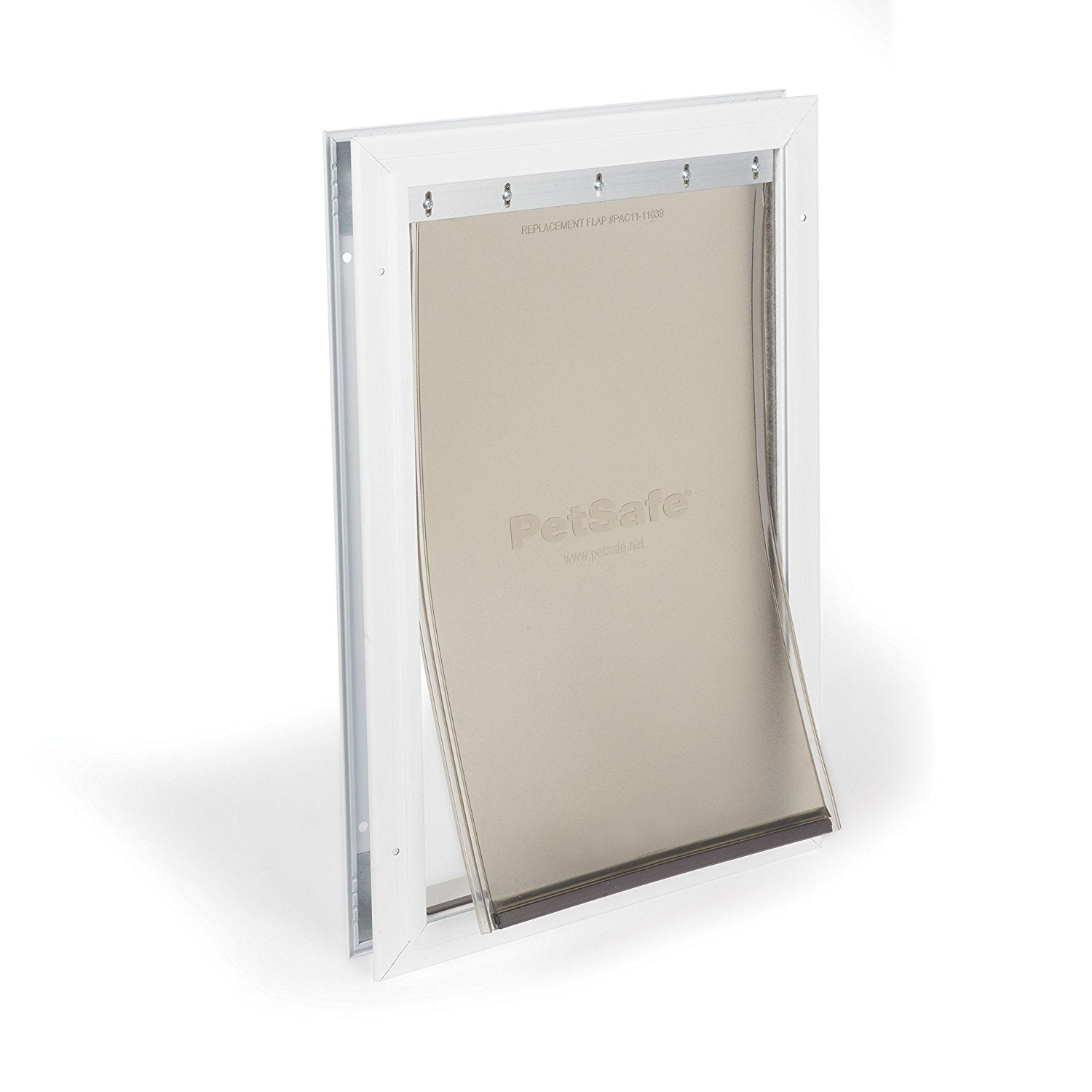 PetSafe Freedom Aluminum Pet Door for Dogs and Cats, White, Tinted Vinyl Flap Dog Doors - London the Local