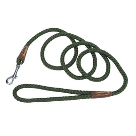 "Remington Braided Rope Dog Snap Leash 6 Feet Green 72"" x 1"" x 1"" Dog Collars and Leashes - London the Local"